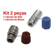 Kit 2pç Válvula De Carga R-134a 1 De Baixa + 1 Alta Pressão