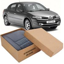 Kit Capas De Banco 100% Em Couro Renault Megane Bipartido
