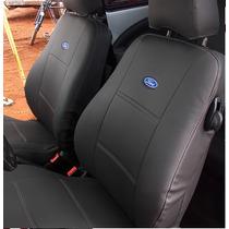 Capa De Couro P/ Banco Bordada Ford Ka Fiesta Focus Ecosport
