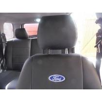 Capas De Banco Couro Ecológico Courvin Logo Ford P/ Ecosport