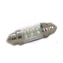 Lampada Torpedo Led Super Branca Tam.42 Mm (preço Par)