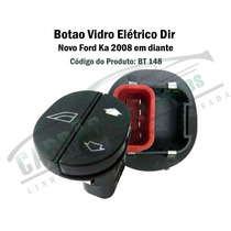 Botao Porta Do Vidro Eletrico Ford Ka Fiesta Courier Simples