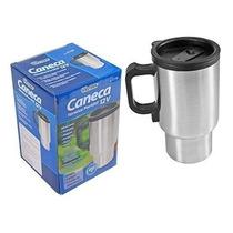 Caneca Térmica Inox Elétrica12v Aquece Agua Café Leite Carro