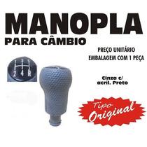 Manopla Cambio Tipo Original Fiesta Ka - Cinza Preto