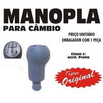 Manopla Cambio Tipo Original Fiesta Ka - Cinza Prata