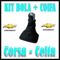 Bola Manopla Marcha Alavanca Bolinha Coifa Couro Celta·corsa