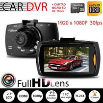 Câmera Filmadora Veicular Hd Dvr Visão Noturna + Cartão 16g