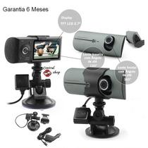 Camera Filmadora Digital Veicular Hd Dual Tacografo Gps