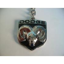 Chaveiro Dodge, Carro , Logo , Metal, Cromado