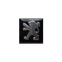 Emblema Logo Adesivo Para Chave Canivete Peugeot Em Alumínio