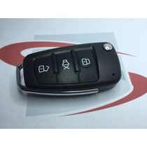 Chave Canivete Alarme Positron Mod. Audi Chip 3 Botões Novo