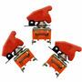 3 Chave Botão Caça Vermelho Painel Som Nitro Led Neon Tictac