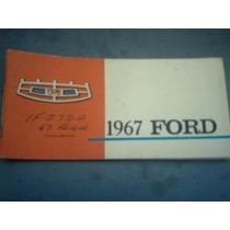 Ford 1967 Manual Do Proprietário Original