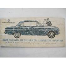 Ford Falcon 1963 Manual Do Porprietário Original