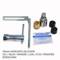 Trava De Estepe Antifurto Arad Ar079 S10 Hilux Ranger L200