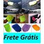 Luva, Frete Grátis P/ Lavar Carro E Limpeza Geral Microfibra
