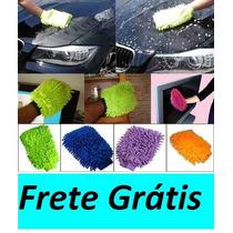 Luva P/ Lavar Carro E Limpeza Geral Microfibra Frete Grátis