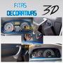 Fitas Decorativas Veiculares 3d Friso Interno Carro Azul