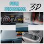 Fitas Decorativas Veiculares 3d Friso Interno Carro Cza/pta
