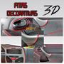 Fitas Decorativas Veiculares 3d Friso Interno Carro Vermelha