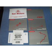 Manual Do Proprietário Honda Civic Edição 2000 Frete Grátis