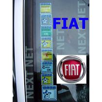 Adesivo Selo Parabrisa Fiat Idea Punto Siena Brav Carro Zero