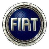 Emblema Calota Fiat 48mm Cor Azul Autocolante