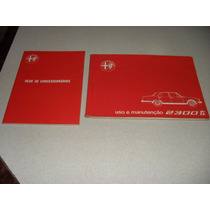 Alfa Romeo - Manual Do Proprietario Estado Novo -