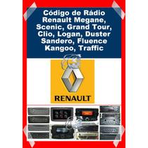 Código Rádio Renault Megane, Scenic, Grand Tour,clio, Logan