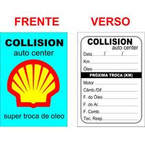 200 Adesivos Etiquetas Troca De Óleo 5 Cores