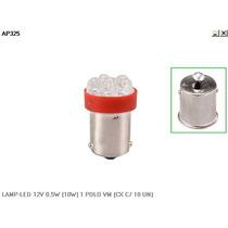 Lampada Led 12v 0,5w 1 Polo Vermelho - Autopoli