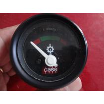 Manômetro Oleo 52mm 12v Trator Case Aro Preto Fundo Preto