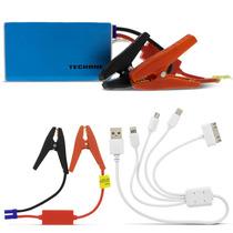 Carregador Auxiliar Partida Celular Iphone Portátil Usb Azul