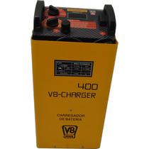 Carregador De Baterias 12v Charger 400 V8 Brasil C/aux. De