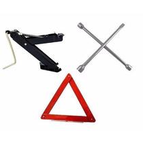 Kit Estepe Macaco + Triangulo + Chave Roda Para Veículos
