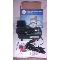 Mini Compressor 12v C/ Adaptador De Acendedor De Cigarros