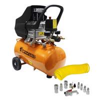 Kit Compressor 220v 2 Hp 18 Litros + Mangueira E Acessórios