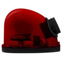 Giroflex Luz De Emergência Sinalizador Sirene 12v Vermelho