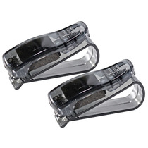 Kit 2 Suporte Veicular Para Óculos E Caneta Carro Quebra Sol