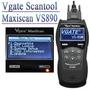 Scanner Automotivo Maxiscan Vs890 Obd2 Português Gas/flex/di