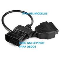 Cabo Adaptador Gm 10 Pinos Para Obd2 - Sbb Codifica Chave