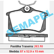 Pastilha Freio Traseira Megane Grand Tour 2.0 16v 2007/...