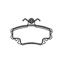Pastilha De Freio Diant. Renault Clio Logan Sandero