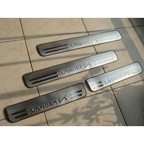 Soleira Portas Mitsubishi Lancer Ex 09/13 De Aço Inox