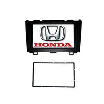 Moldura 2 Din Honda Crv 2007~2011 Preta Fosca + Kit Plug