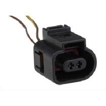 Conector 2 Vias Sensor Temp Luz Re Deton Gol Fox Mbb Vw 1156