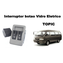 Interruptor Botão Vidro Elétrico Topic Duplo