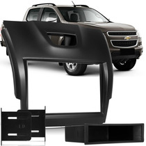 Moldura Painel Dvd 1 E 2din S10 Trailblazer Black Piano 2014