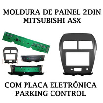 Moldura Painel Dvd 2 Din Mitsubishi Asx C/ Parking Control