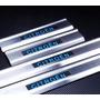 Soleira Led Aço Inox Escovado Citroen Iluminado C3 C4 Vtr C5